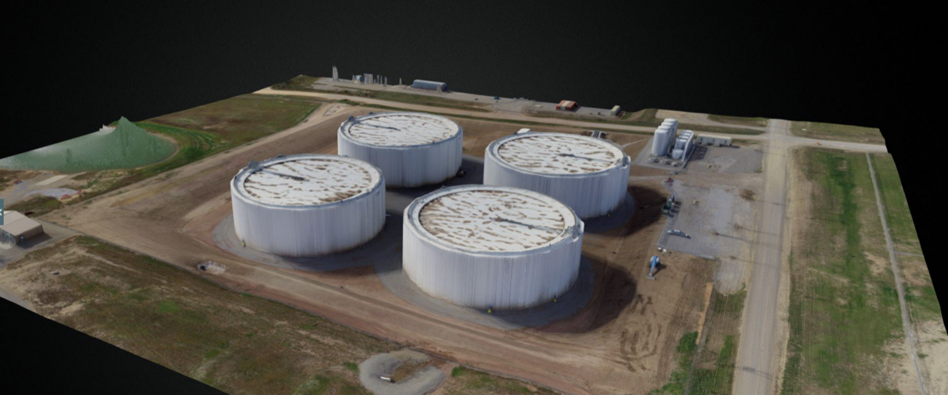 3D Mapping Oil Storage Everdrone